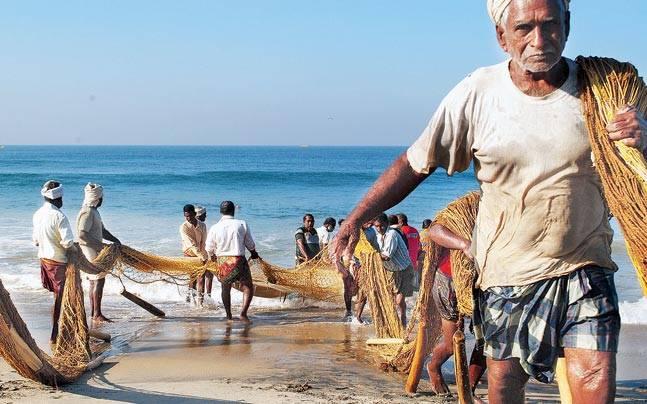Pescadores en India sacan plàstico del mar y lo usan para pavimentar calles